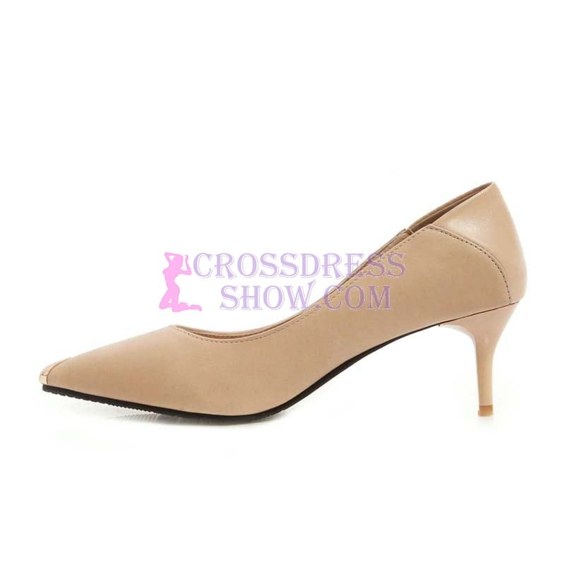 1.5 Inch Pointed Toe Black White Nude Pump