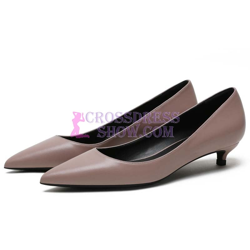 1 Inch Classic Sheepskin Leather Pump