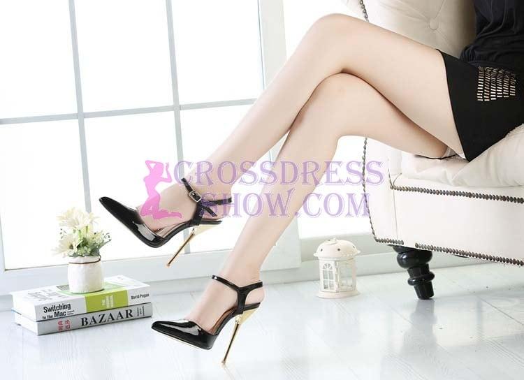 5.3 Inch Stiletto Lace Sandals