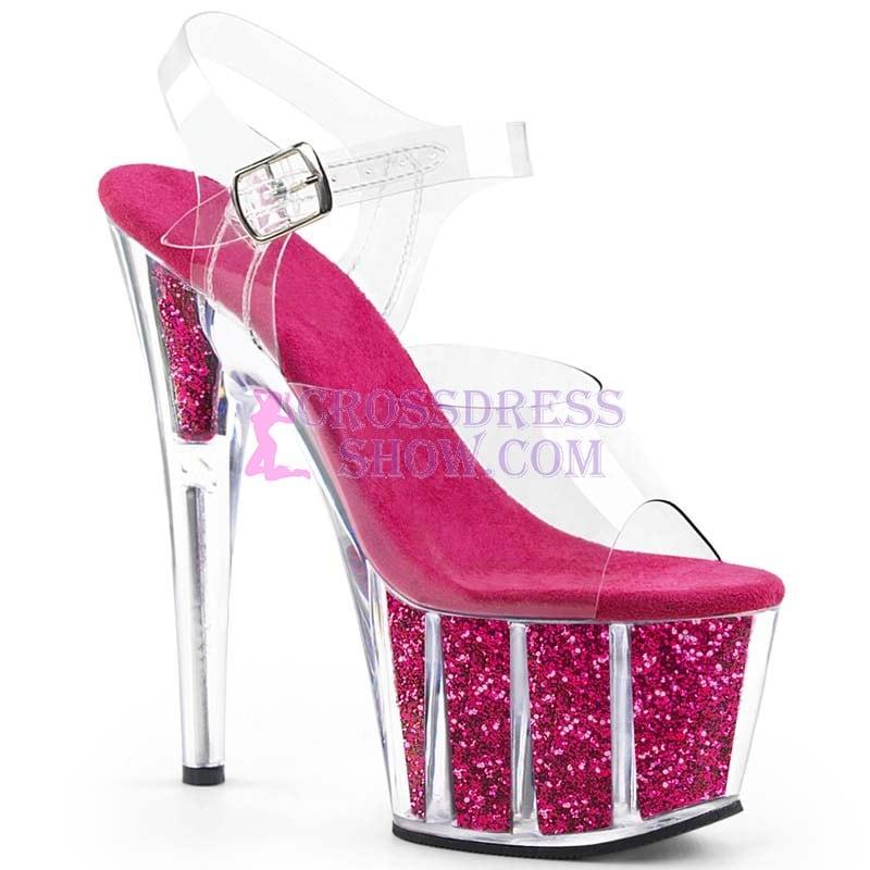 6 Inch Super High Shiny Demond Sandals