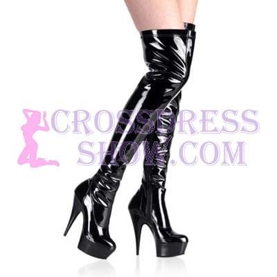 6 Inch Zipper Thigh High Boots