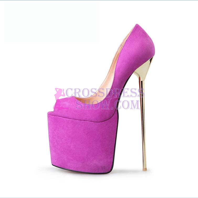 8.6 Inch Super High Peep Toe Pump