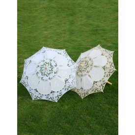 1920s Party Decoration White Cut Out Umbrella Halloween Flapper Costume Accessory