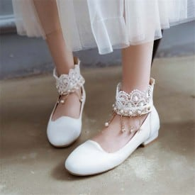 1 Inch Lace Beads Mary Janes Sweet Lotia Pump