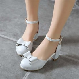 2.5 Inch Butterfly-knot Ankle Strap Sandal