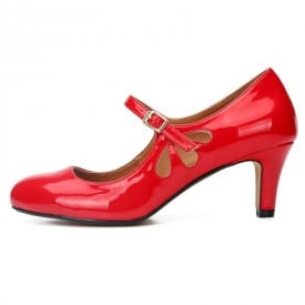 2 Inch Round Toe Ankle Strap Party Pump
