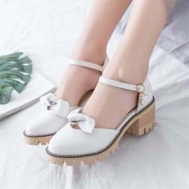 2 Inch Sweet Lolita Bowtie Ankle Strap Sandal