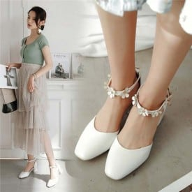 2 Inch Sweet Square Tow Ankle Strap Sandal