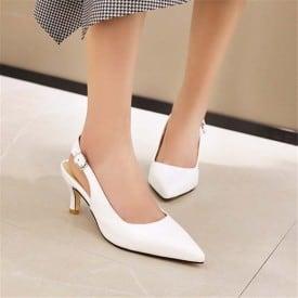 3.5 Inch Slingbacks Pointed Kitten Sandal
