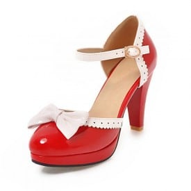 3.5 Inch Sweet Lolita Patent Leather Pump