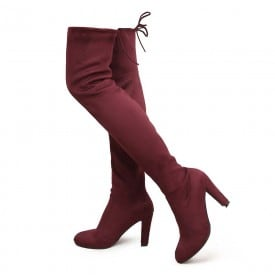 3.5 Inch Thigh High Lace Zipper Boots