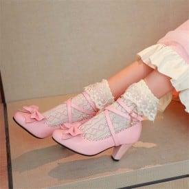 3 Inch Lolita Bowtie Cross Tied Rome Pump