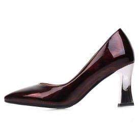 3 Inch Pointed Toe Patent Leather Pump