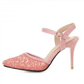 3 Inch Sexy Lace Elegant Classic Ankle Strap Sandal