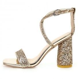 3 Inch Sexy Luxury Cross Straps Seqiuned Sandal