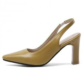 3 Inch Slingback Paten Leather Casual