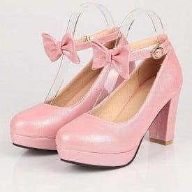 3 Inch Sweet Lolita Bowtie Ankle Strap Pump