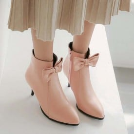 4.5 Inch Sweet Princess Bow Tie Bride Ankle Boot