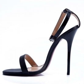 4.7 Inch Ankle Strap Thin Heels Buckle Sandal