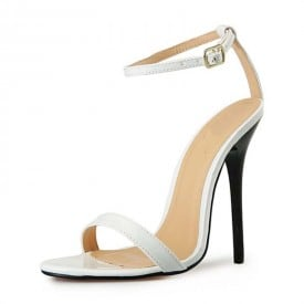 4.7 Inch Lace Straps Buckle Leather Sandal