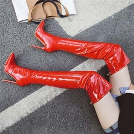 4.7 Inch Over-the-kneePointed Toe Boot