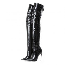 4.7 Inch Pu Thigh High Boots