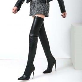 4.7 Inch Thigh High Sheepskin Boots