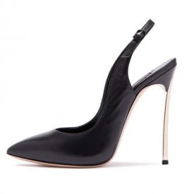 4 Inch Metal Heel Sexy Lace Pointed Pump