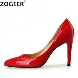 4 Inch Pointed Toe Patent Leather OL Pump
