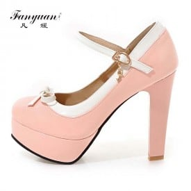 4 Inch Sweet Patent Leather Candy Pump