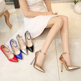 5 Inch Lace Pointed Ol Pumps