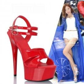 5 Inch Super High Shiny Model Sandals