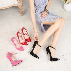 6.3 Inch Super High Heel Lace Pumps
