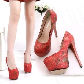 6 Inch Hot Red Sexy Pump