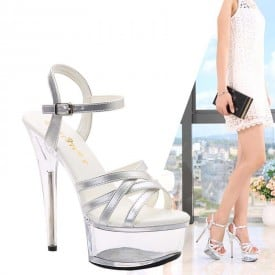 6 Inch Lace High Heel Sandals