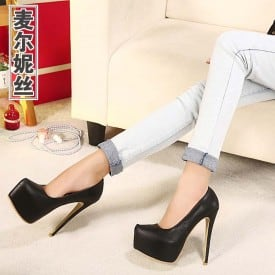 6 Inch Leather Ol Pumps