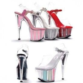 6 Inch Super Clear Crystal Wedding Sandals