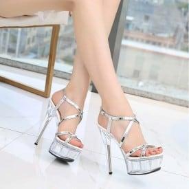 6 Inch Super High Model Lace Sandals