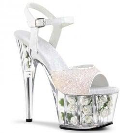 6 Inch Super High Shiny Rose Sandals