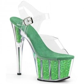 7 Inch Clear Shiny Crystal Sandals