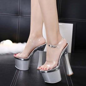7 Inch Super High Clear Show Sandals