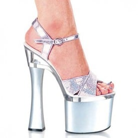7 Inch Super High Shiny Sandals