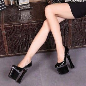 7 Inch Thick Heels Pumps
