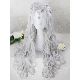 Classic Lolita Wigs Gold Long Curly Spiral Curls Synthetic Hair Wigs
