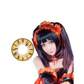 Date A Live Tokisaki Kurumi Cosplay Yellow Contact Lenses