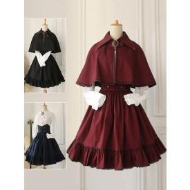 Gothic Lolita Dress Military Lolita Cross Regression Victorian Vintage SK Lolita Skirt