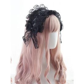 Gothic Lolita Headdress Lace Bow Lolita Headband