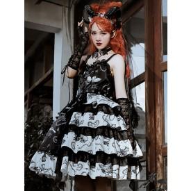 Gothic Lolita JSK Dress The Vampire Diaries Lolita Jumper Skirts With Choker