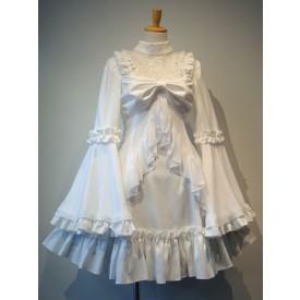 Gothic Lolita OP Dress White Ruffles Lolita One Piece Dresses