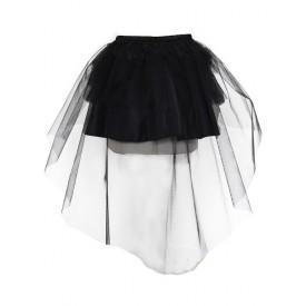 Gothic Lolita Petticoat Tulle Pleated Black Lolita Crinoline